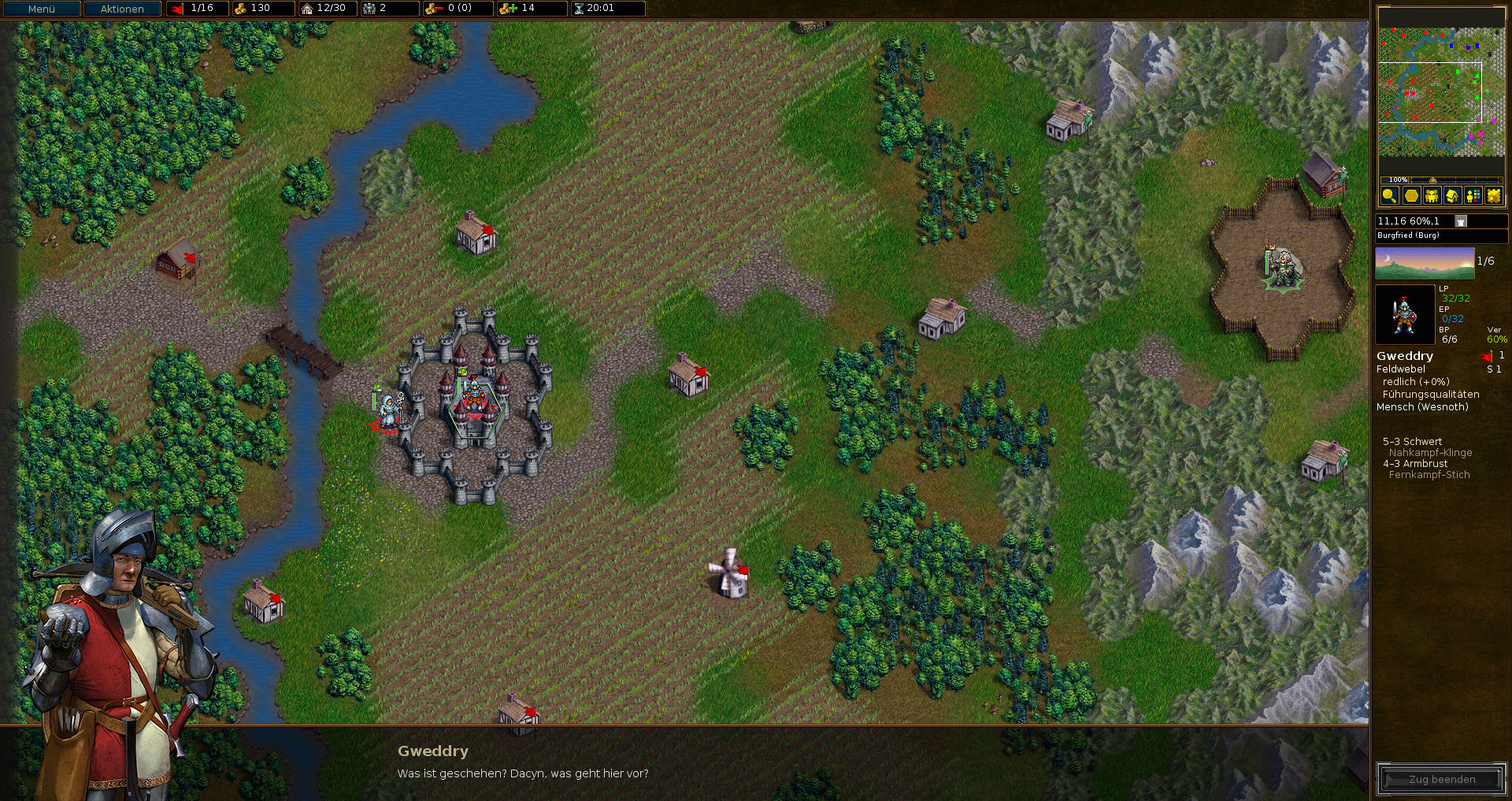 The Battle for Wesnoth gameplay screenshot